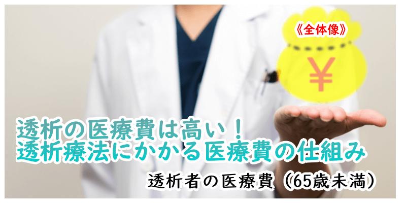透析の医療費は高い!3制度活用しましょう。