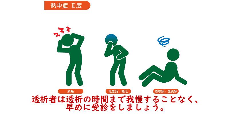 熱中症の重症度と症状2