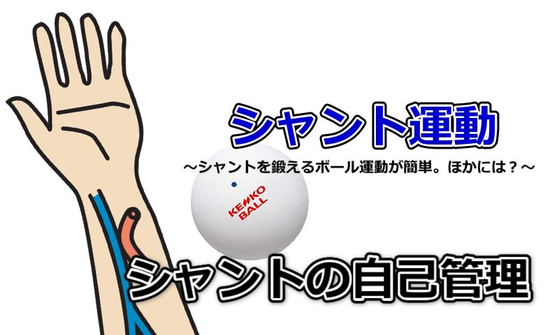 シャント運動にはボール運動!