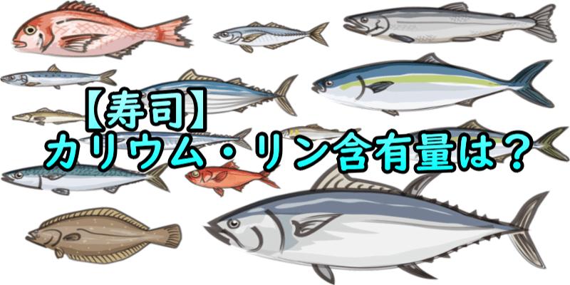寿司カリウム・リン含有量